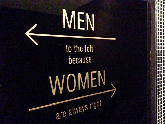 Девочки направо, мальчики налево.