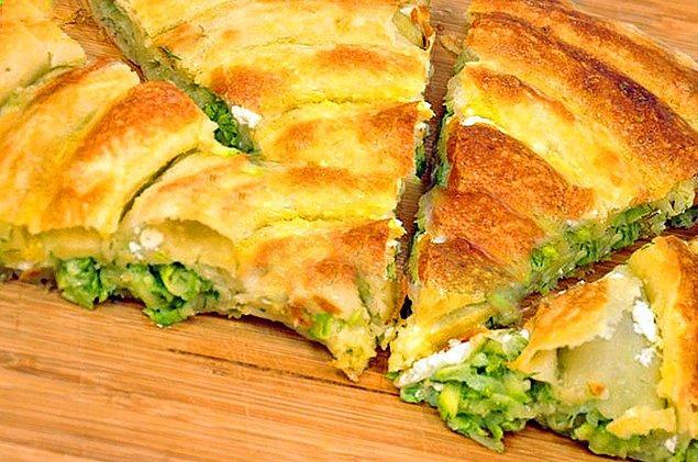 9. Pesto Soslu Kabaklı Börek