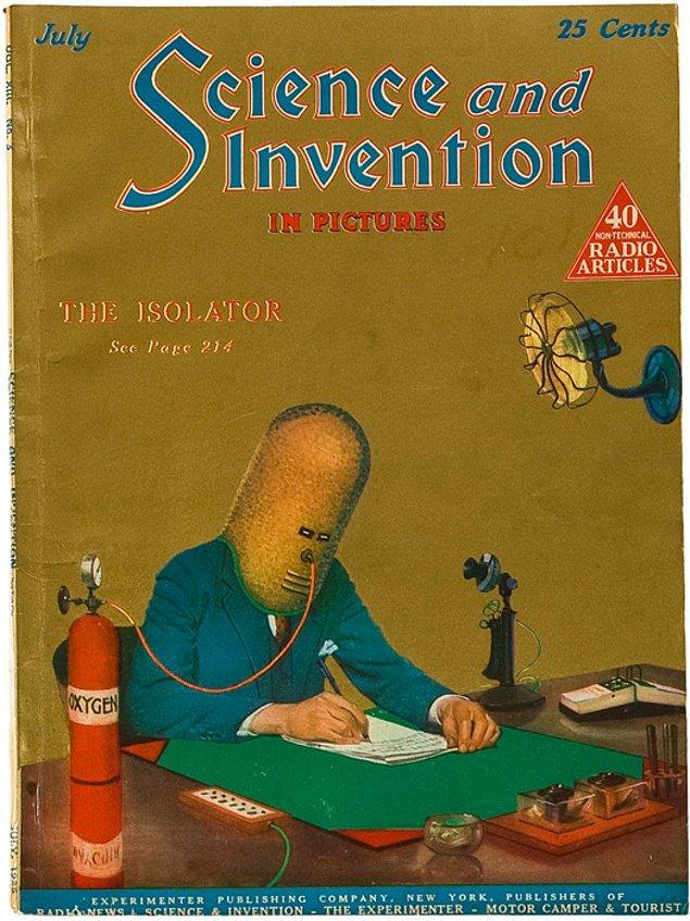 3. Gernsback 1925 yılının Temmuz ayında, Science and Invention dergisini bu kapakla yayınlıyor.