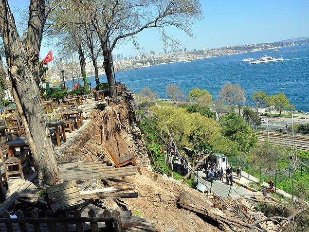 5. Gülhane Parkı'nda Çay Bahçesinin Duvarı Çöktü: 2 Kişi Can Verdi