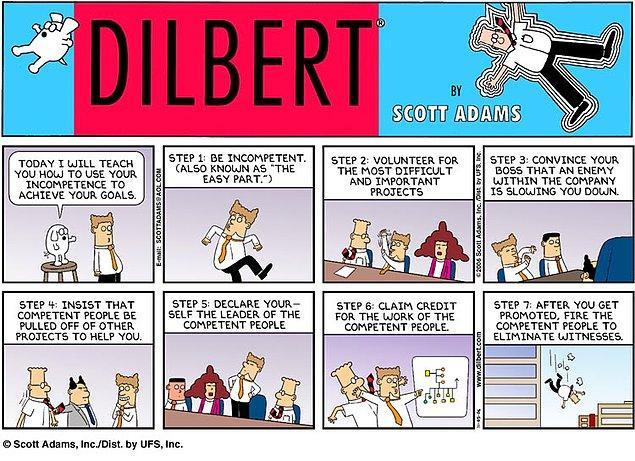 11. Peter prensibi, Scott Adams'ın Dilbert karakterine de ilham verdi.