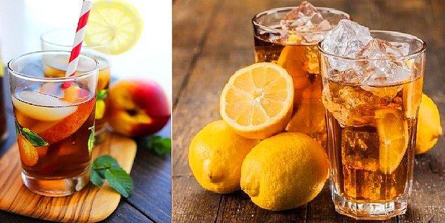 2. Limonlu Soğuk Çaycılar - Şeftalili Soğuk Çaycılar