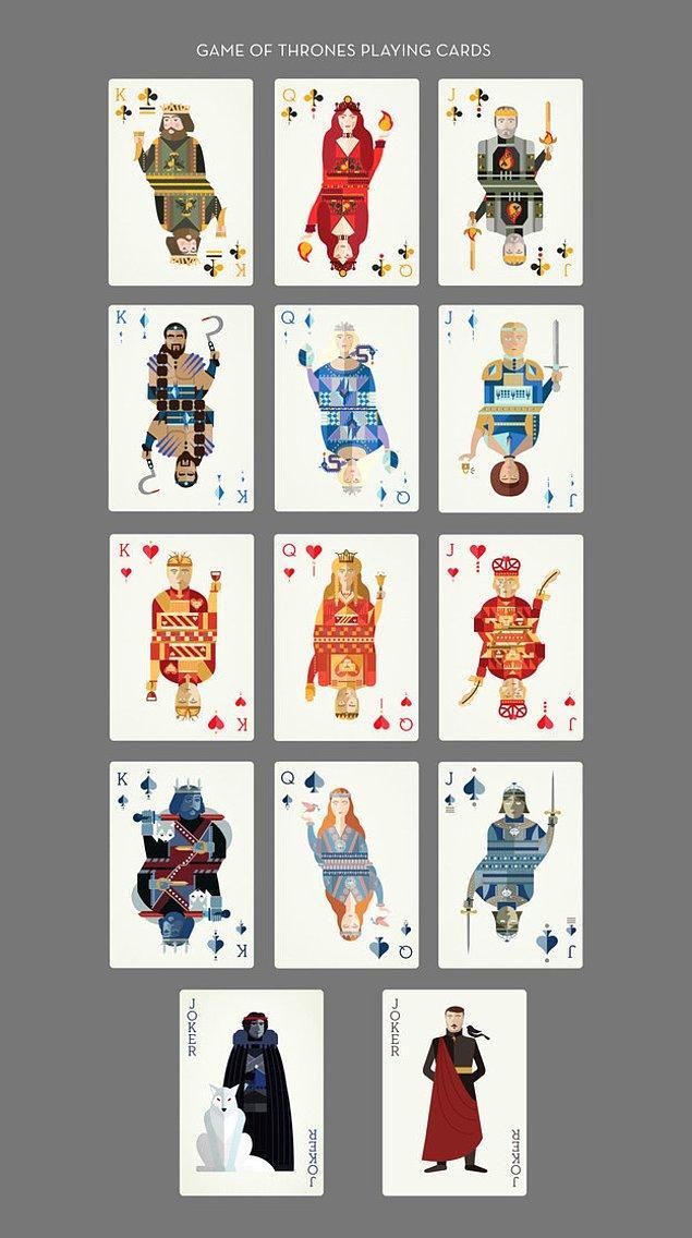 İllüstrator Amanda Penley'nin tasarladığı Game of Thrones iskambil kartları tam birer şaheser.