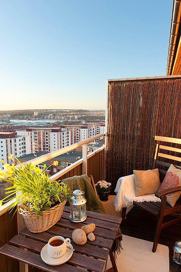 15. Eh bu kadar yorgunluktan sonra en güzeli balkon keyfine bir de kahve eklemek...