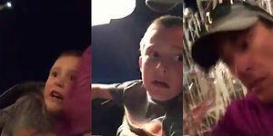 Boşuna Süper Kahraman Demiyoruz: Roller Coaster'da Kemeri Açılan Çocuğun İmdadına Yetişen Baba