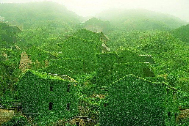 Заброшенная рыбацкая деревня в архипелаге Шенгси, Китай