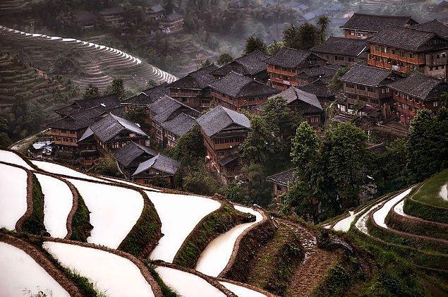 Горная деревушка, Китай