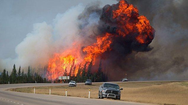 'Yangın büyük, kontrol dışı ve tehlikeli'