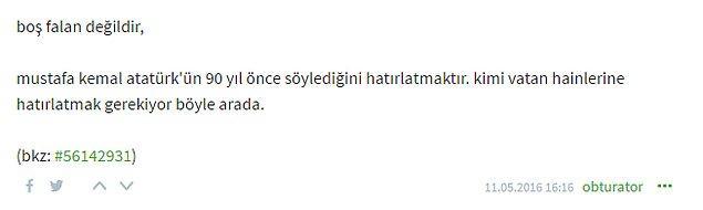 """""""Atatürk'ün 90 yıl önce söylediğini hatırlatmaktır"""""""