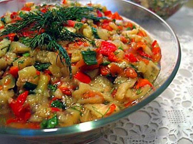 3. Patlıcan ve biber közlemeleri