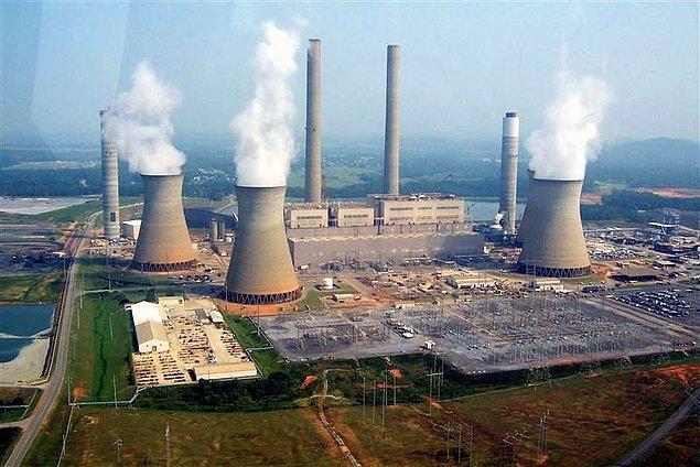 3- Termik elektrik santrallerinin ortaya çıkardığı kirlilik.