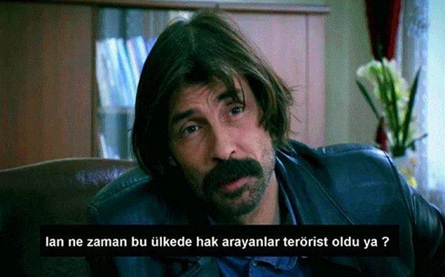 7. Behzat Ç'den; HES'i protesto eden halka terörist denmesine karşılık:
