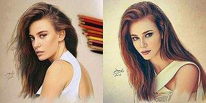 Çalışmalarına Daha Çok Türk Ünlüleri Yansıtan Suriyeli Sanatçıdan 19 Şahane Çizim