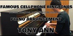 Известные телефонные мелодии в исполнении талантливого пианиста
