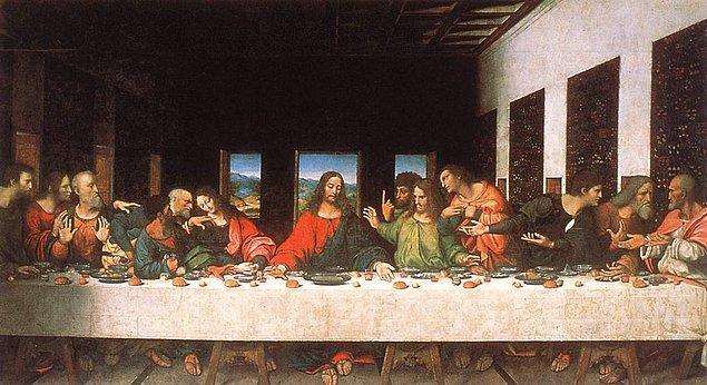 "8. ""The Last Supper"", (Son Akşam Yemeği), Leonardo da Vinci"