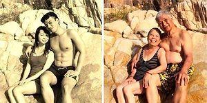Ruh Yaşlanmıyor: Geçmişte Ölümsüzleştirilen Anlarını Yeniden Canlandıran 27 Romantik Çift