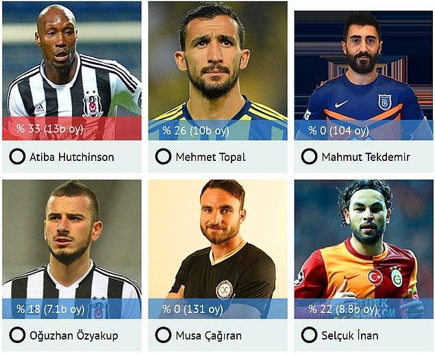 En İyi Orta Saha: Atiba Hutchinson & Mehmet Topal