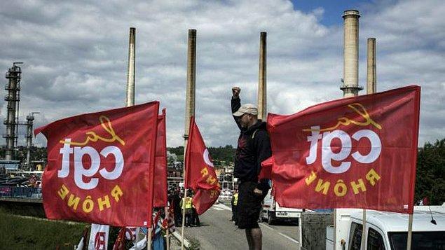 Nükleer santraller de greve katıldı