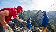 İki Dağ Arasında İple 1 Km Yürüyerek Dünya Rekoru Kıran Adam