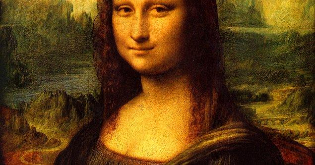 """6. Da Vinci ile devam edelim: Bir iddiaya göre, sanatçı meşhur yapıtı """"Mona Lisa""""nın dudaklarını 12 yılda tamamladı."""