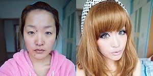 Uzak Doğuluların Makyajda da Boyut Atladıklarının Kanıtı 20 İnanılmaz Değişim