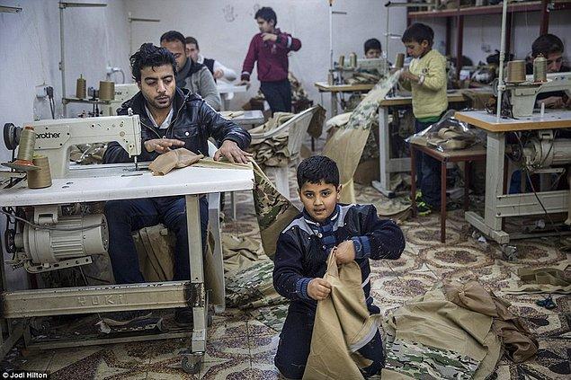 Gaziantep'in 190 km dışında bulunan atölyede yaklaşık 10 tane çocuk işçi çalıştırılıyor