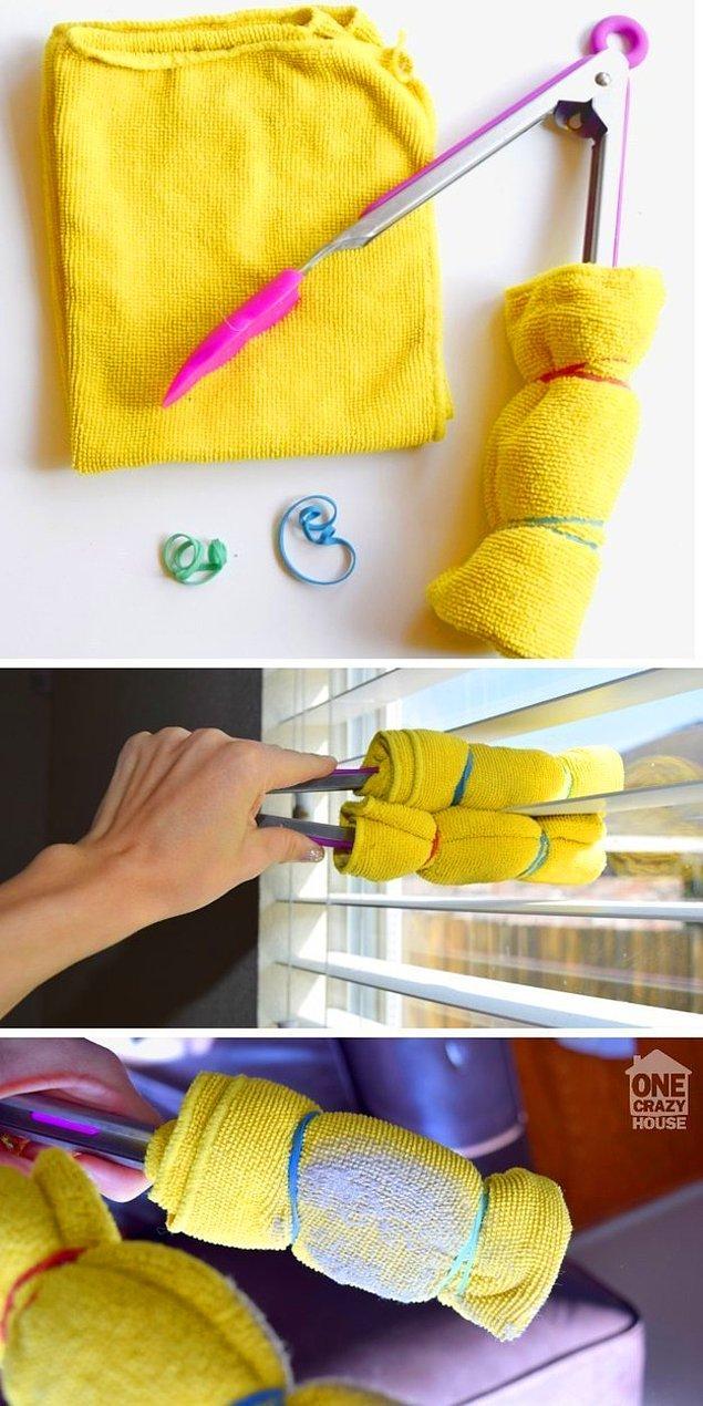 11. Sizin mutfakta jaluziler varsa onların temizliği de kolay!