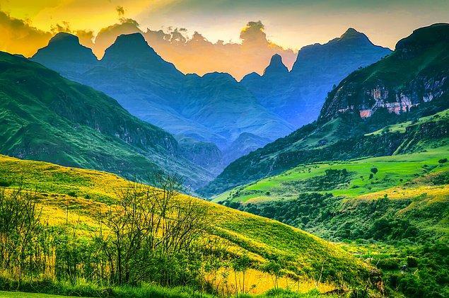 5. Muhteşem bir doğa harikası Drakensberg