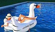 Yaz Geldi Havuzlar Renklendi: Şişme Kuğum Olmadan Asla Diyen Keyfine Düşkün 25 Ünlü
