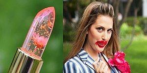 Dünyanın En Güzel Şeyi Olmaya Aday Çiçekli ve Şeffaf Rujlar: Şaka Değil!