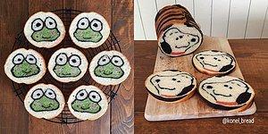 Japon Fırıncıdan Ekmek Dilimlerine Saklanmış Tamamen Yenebilir Sanatsal Çalışmalar