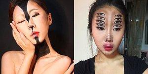 Yaptığı Makyajla Muhteşem Göz Yanılmaları Yaratan Sanatçı Görenleri Büyülüyor!