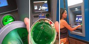 ATM'ye Yerleştirilmiş Kredi Kartı Kopyalayan Düzenek Bulan Adam