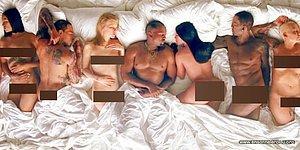 12 голых знаменитостей в одной постели - шокирующий и сенсационный клип Канье Уэста