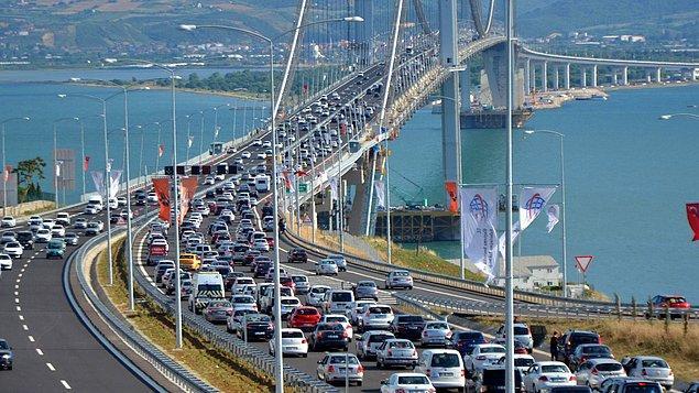 Osmangazi Köprüsü'nde yoğunluk