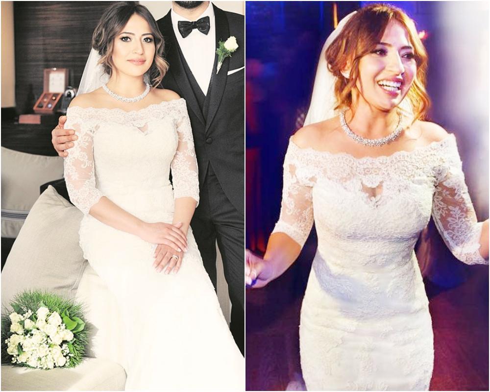 817094e9b875f Tarkan ile evliliğinden sonra gündemden düşmeyen Pınar ise düğününde, uzun  kollu yerine yarım kollu bir gelinlik giydi. Pınar'ın dantel detaylı ve  omuz ...