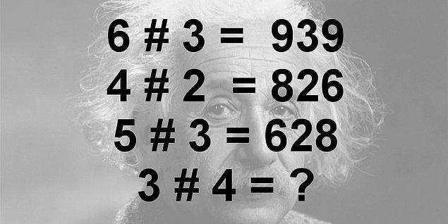 10. Aşağıda verilen sayılarla # işlemi yapılıyor. ? yerine hangi sayı gelmelidir?