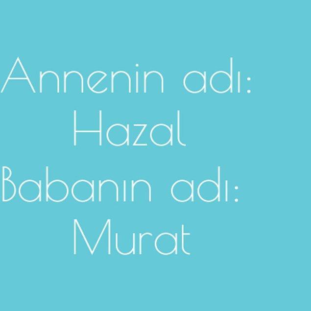 Hazal ve Murat!