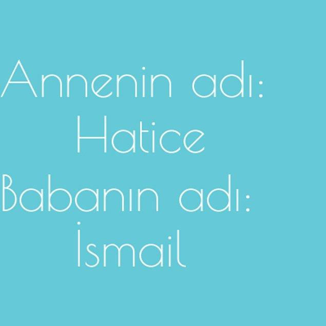 Hatice ve İsmail!
