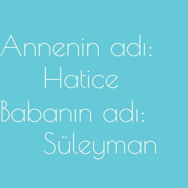 Hatice ve Süleyman!