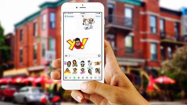 Son zamanların en popüler uygulamalarından snapchat, geçtiğimiz sene 100 milyon dolara satın aldığı 'Bitstrips' uygulamasını geliştirerek entegre etti.