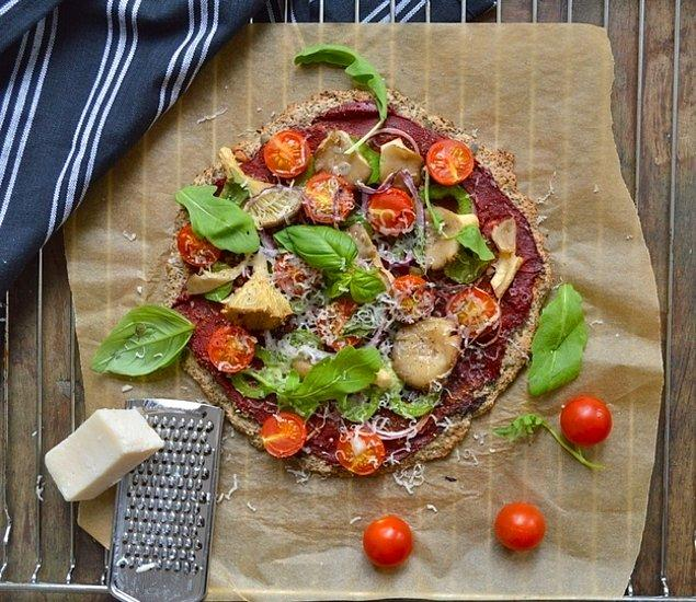 9. Chia ve karabuğdaylı pizza