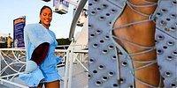 Bu Kadar Şanslı Olsak Yeter! Rihanna Tığ Topuklarıyla Delikli Metal Zeminde Esti Geçti