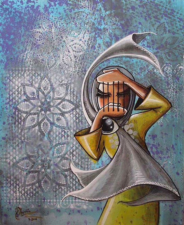 1988 yılında İran'da doğan Shamsia Hassani, Afgan bir sanatçı.