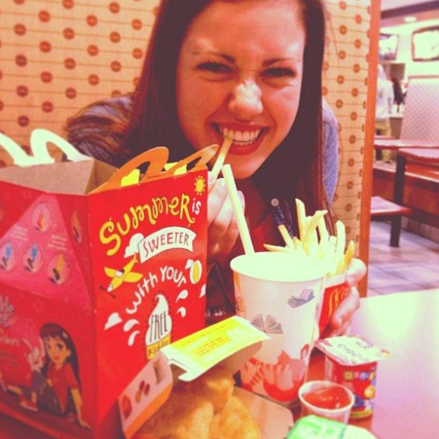 22. Gerçekte bitmeyen gece: Fast food