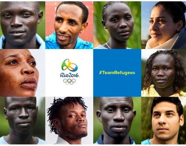 10 sporcunun yer aldığı mülteciler takımı, 4 kadın ve 6 erkekten oluşuyor.