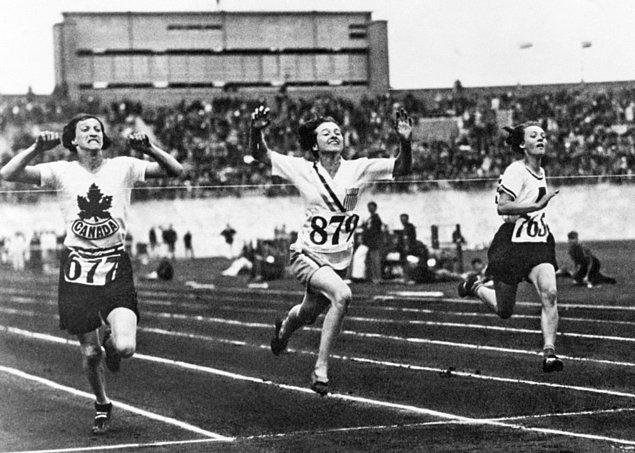 1928 Olimpiyatlarında kadınlar altın madalya alıyor.