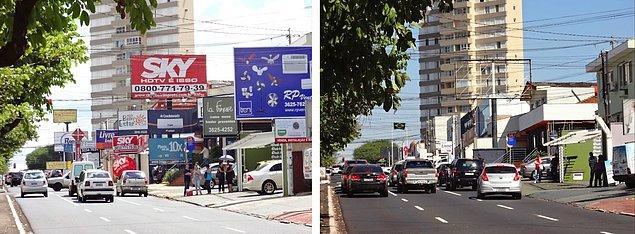"""10. Brezilya'nın São Paulo kentinde 15 yıl kadar önce çıkarılan """"Temiz Şehir Yasası"""" ile, şehirde bulunan tüm reklam panoları yasaklanmıştır."""