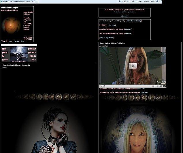 6. Siyahlığından göz gözü görmeyen karanlık profilleriyle Myspace.