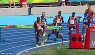 3000 Metre Koşusunda Ugandalı Atlet Jacob Araptany'nin Şanssız Kazası